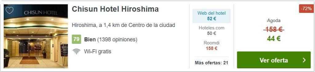 ALOJAMIENTO BARATO EN HIROSHIMA