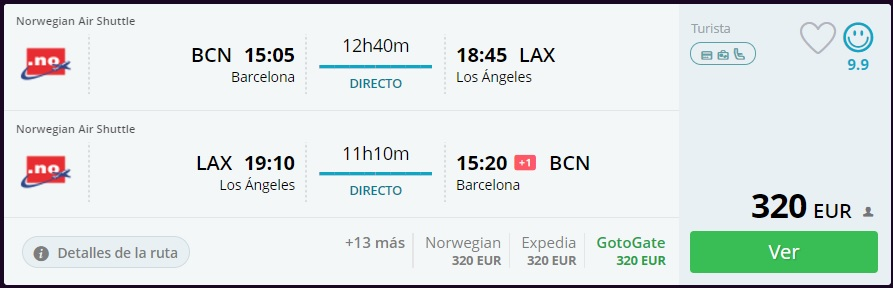 vuelos baratos Los Ángeles