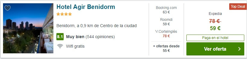 hotel barato Agir Benidorm