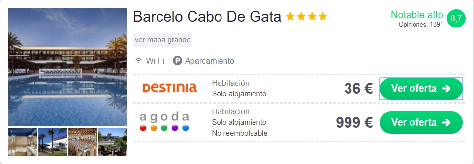 hotel barato en Cabo de Gata