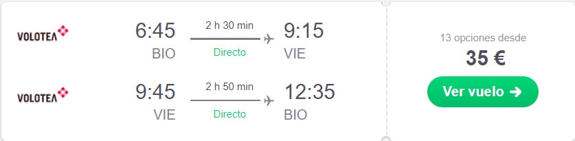 vuelo super barato a Viena
