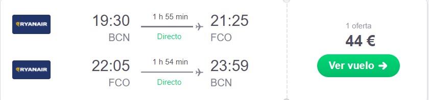 vuelo barato a Roma en Julio