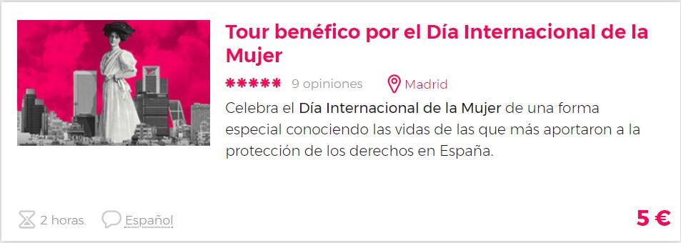 tour benéfico Madrid