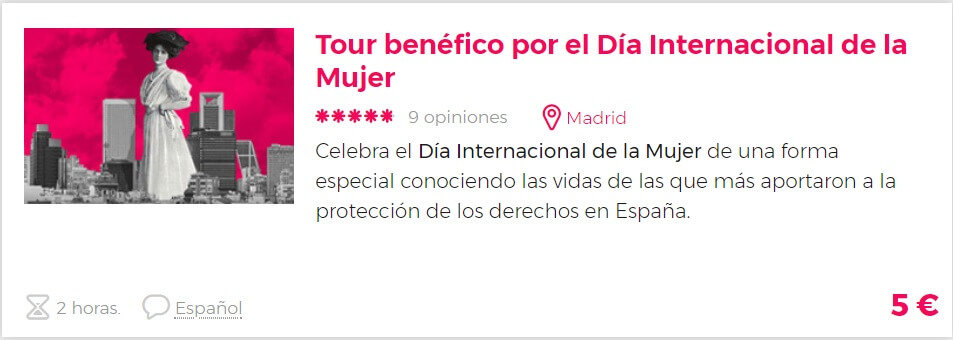 tour benéfico Madrid
