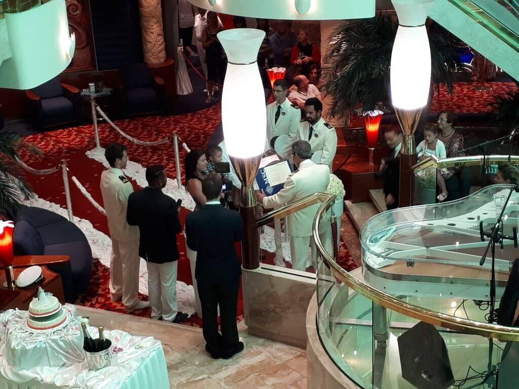 boda a bordo de un barco