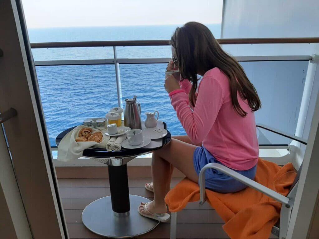 desayuno camarote