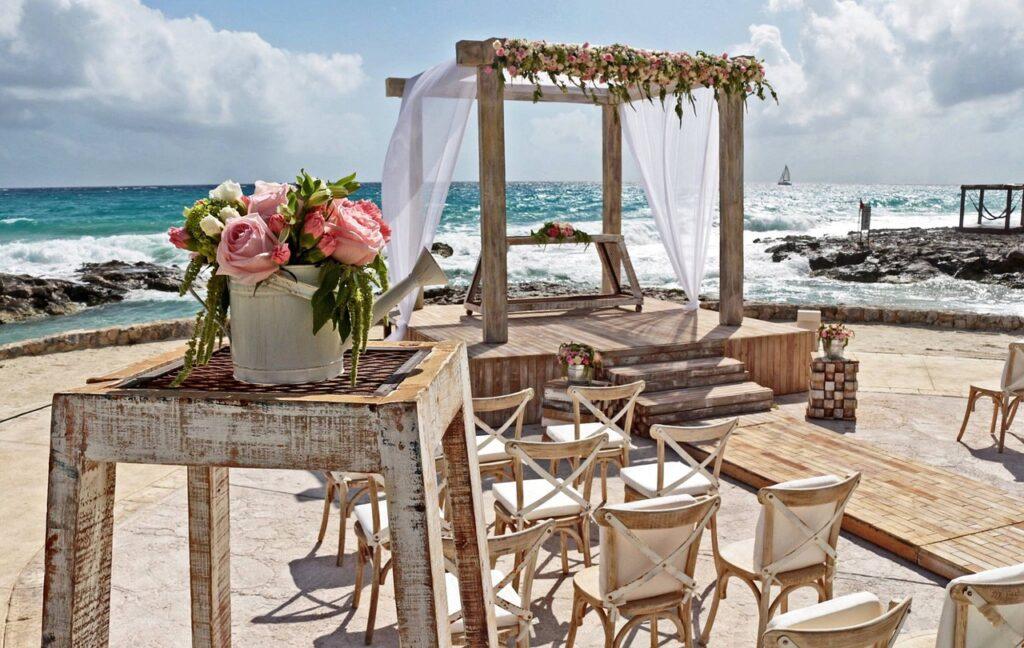 boda junto al mar